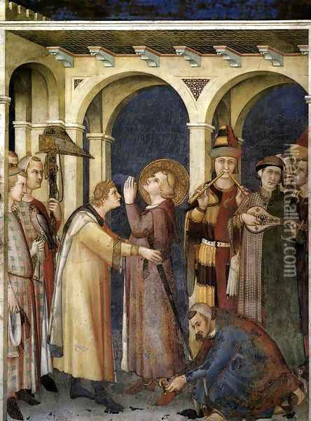 St. Martin is Knighted (scene 3) 1312-17 Oil Painting - Louis de Silvestre