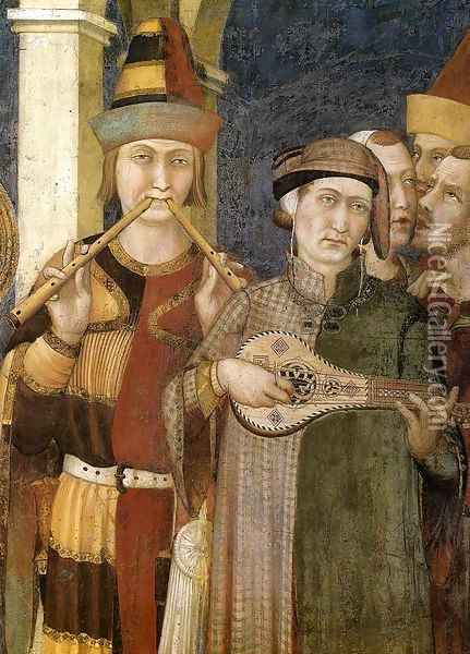 St. Martin is Knighted (detail-3) 1312-17 Oil Painting - Louis de Silvestre