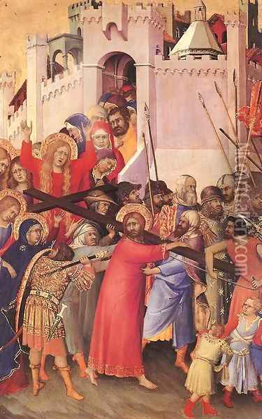 The Carrying of the Cross 1333 Oil Painting - Louis de Silvestre