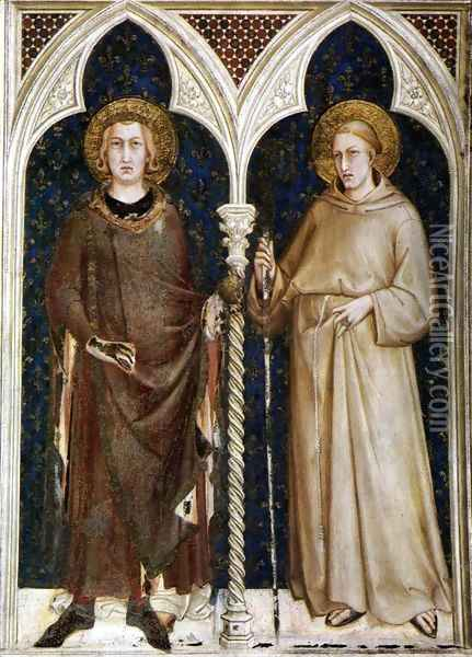 St Louis of France and St Louis of Toulouse 1317 Oil Painting - Louis de Silvestre