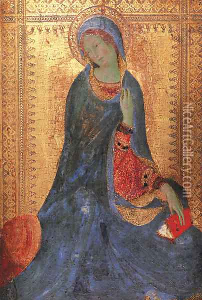 The Virgin of the Annunciation (2) 1333 Oil Painting - Louis de Silvestre