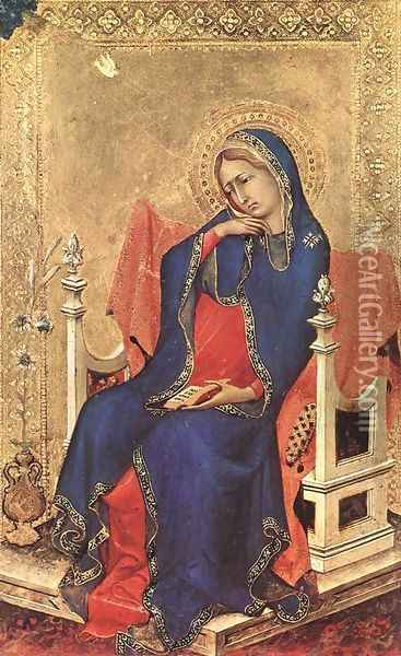 The Virgin of the Annunciation (1) 1333 Oil Painting - Louis de Silvestre