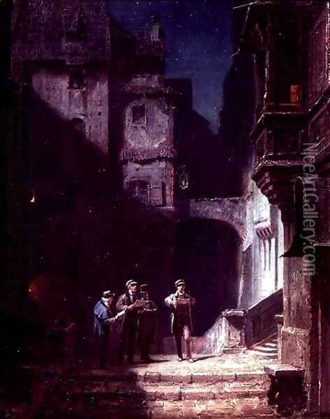 Serenade Oil Painting - Carl Spitzweg