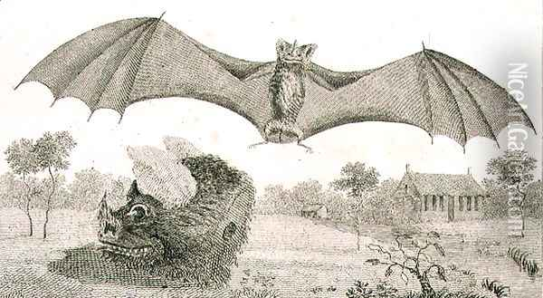 The Vampire or Spectre of Guiana, 1791, plate 58 from Volume II of Narrative of a Five Years Expedition against the Revolted Negroes of Surinam, engraved by Anker Smith 1759-1819 pub. 1806 Oil Painting - John Gabriel Stedman
