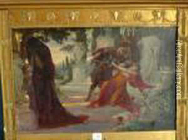 L'assassinat De Rome Oil Painting - Georges Antoine Rochegrosse