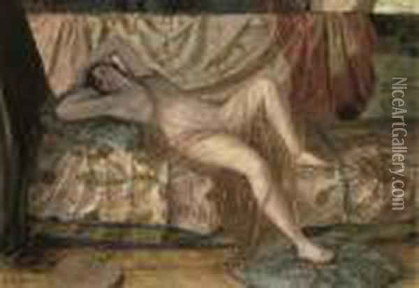Odalisque Oil Painting - Georges Antoine Rochegrosse