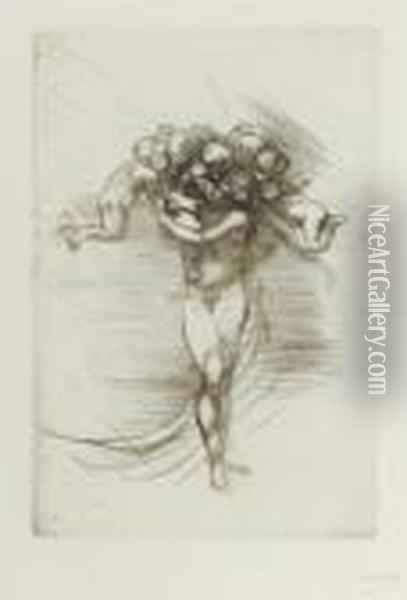 Le Printemps. 146 X 100 Oil Painting - Auguste Rodin