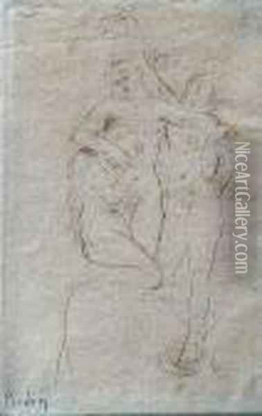 Le Mes Du Purgatoire. Etching. -