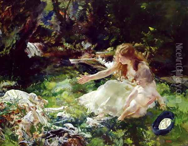 and the fairies ran away with their clothes Oil Painting - Charles Sims