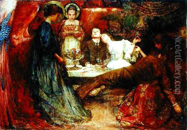 What are these to me and you who deeply drink of wine, 1895 Oil Painting - Charles Sims
