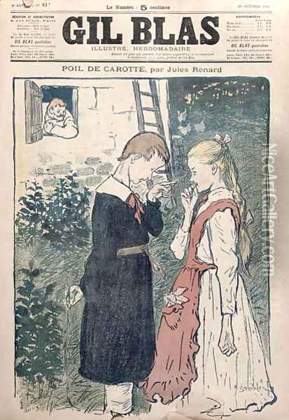 Illustration from Poil de Carotte by Jules Renard 1864-1910 in Gil Blas, 20th October 1895 Oil Painting - Theophile Alexandre Steinlen