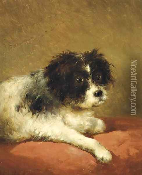 Best friend portrait of a dog Oil Painting - Andreas Schelfhout