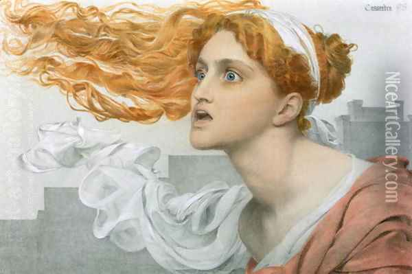 Cassandra Oil Painting - Anthony Frederick Sandys