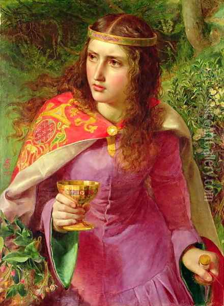 Queen Eleanor, 1858 Oil Painting - Anthony Frederick Sandys