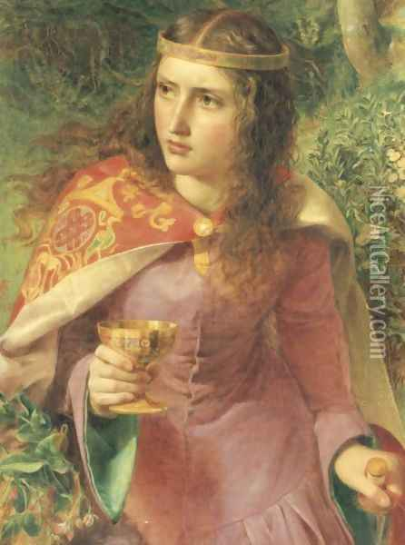 Queen Eleanor Oil Painting - Anthony Frederick Sandys