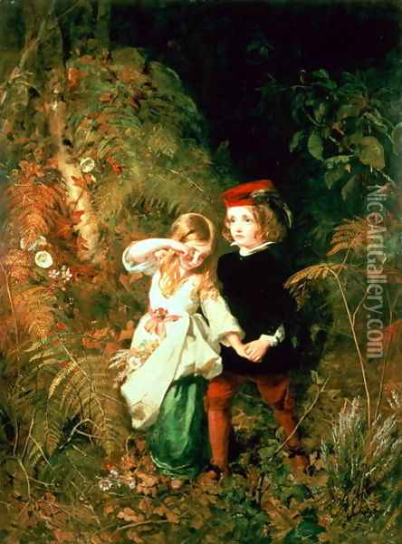 Children in the Wood Oil Painting - Anthony Frederick Sandys