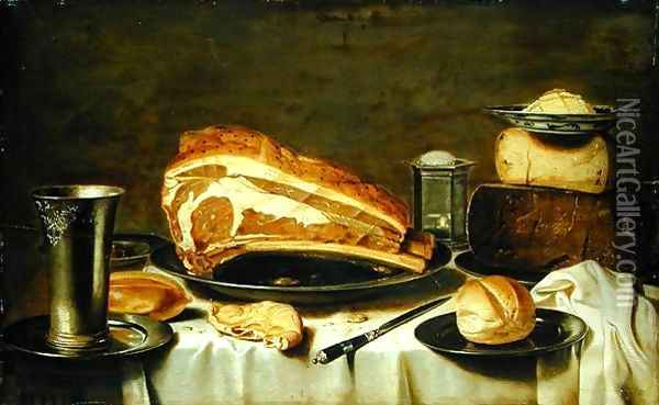 Breakfast Still Life Oil Painting - Floris Gerritsz. van Schooten