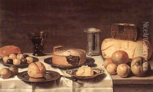 Breakfast Oil Painting - Floris Gerritsz. van Schooten