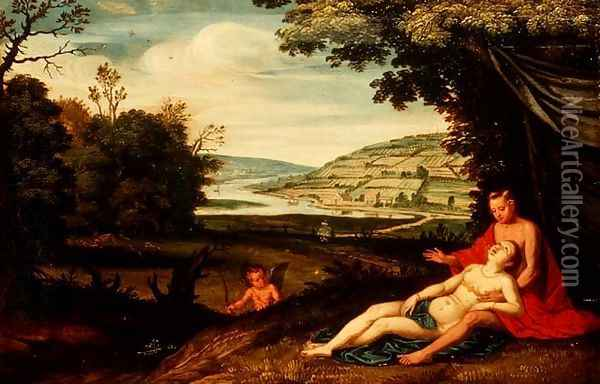 Venus and Adonis Oil Painting - Floris Gerritsz. van Schooten