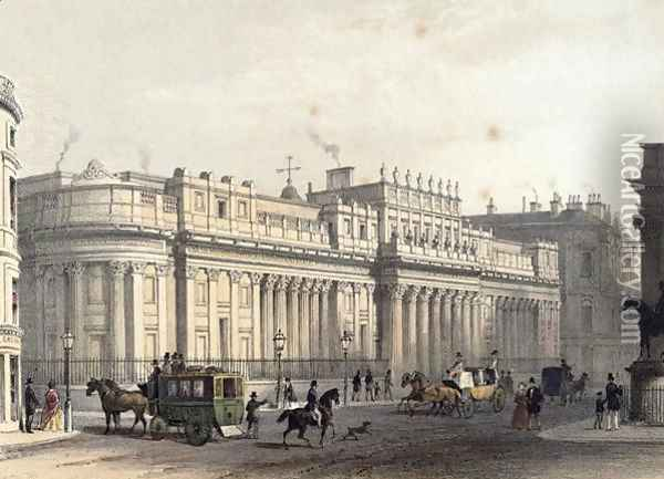 The Bank of England, engraved by Louis-Jules Arnout 1814-68, pub. 1854 by E. Gambart and Co Oil Painting - Thomas Hosmer Shepherd