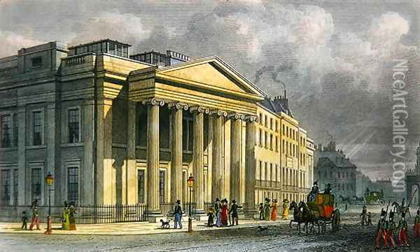 The New College of Physicians, Pall Mall, East, engraved by Thomas Barber 1768-1843 Oil Painting - Thomas Hosmer Shepherd