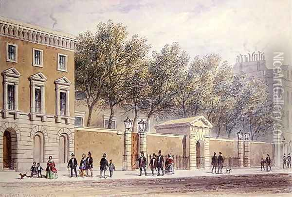 The New Entrance to Grocers Hall, 1854 Oil Painting - Thomas Hosmer Shepherd