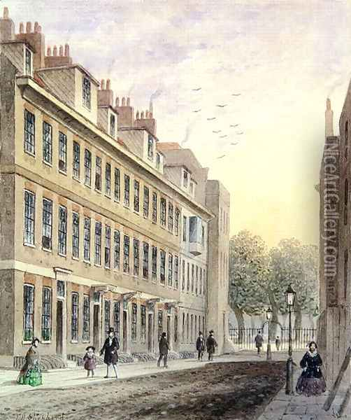View of Fludyer Street, looking towards St. Jamess Park, 1859 Oil Painting - Thomas Hosmer Shepherd