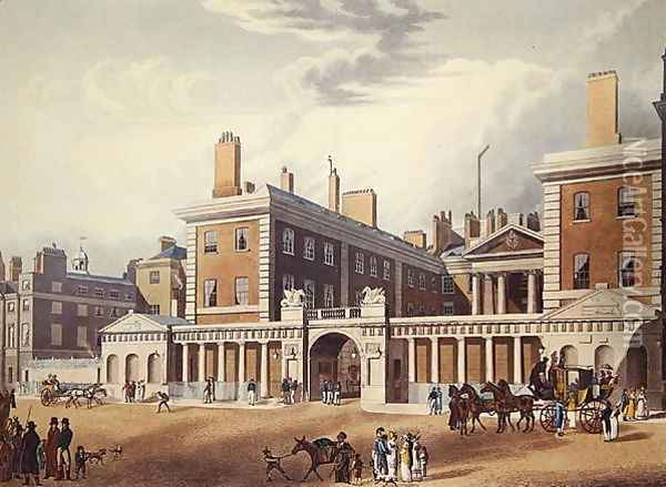 View of the Admiralty, 1818 Oil Painting - Thomas Hosmer Shepherd