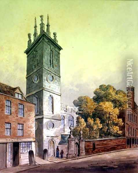 St. Mary Somerset Oil Painting - Thomas Hosmer Shepherd