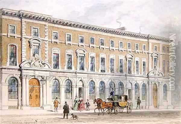 The New Building of Merchant Taylors and Hall, 1853 Oil Painting - Thomas Hosmer Shepherd