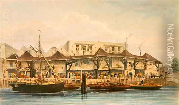 Brewers, Chesters and Galley Quays, 184 Oil Painting - Thomas Hosmer Shepherd