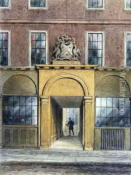 The Entrance to Weavers Hall,1854 Oil Painting - Thomas Hosmer Shepherd