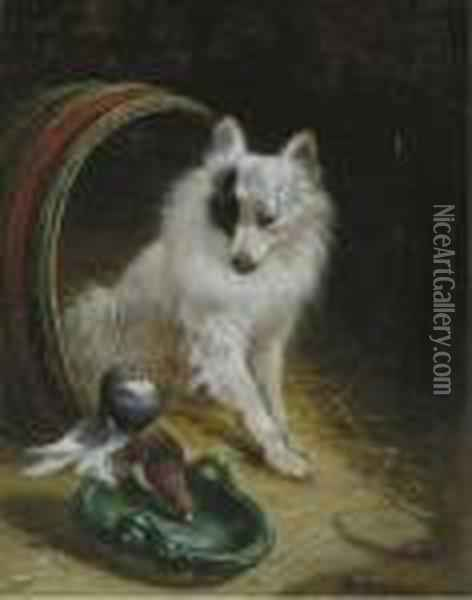 Friends Oil Painting - Henriette Ronner-Knip