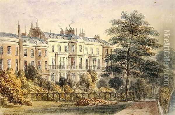 East front of Sir Robert Peels House in Privy Garden 1788-1850 1851 Oil Painting - Thomas Hosmer Shepherd