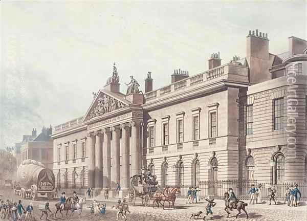 East India House, engraved by Joseph Constantine Stadler fl.1780-1812, pub. by Ackermanns Repository of Arts Oil Painting - Thomas Hosmer Shepherd