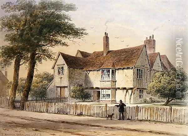 The Rectorial House, Newington Butts, 1852 Oil Painting - Thomas Hosmer Shepherd