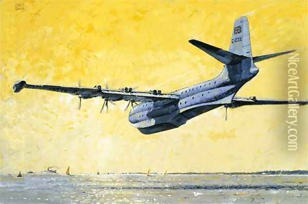 Military aircraft Oil Painting - John S. Smith