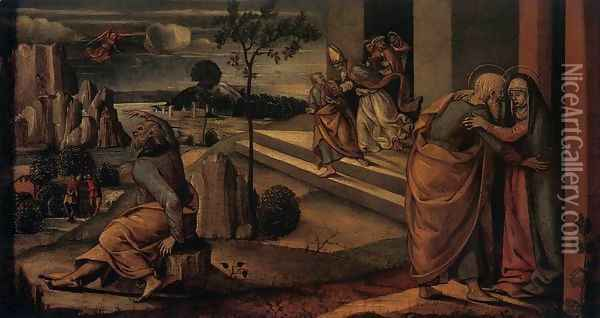 Scenes from the Lives of Joachim and Anne 2 Oil Painting - Luca Signorelli