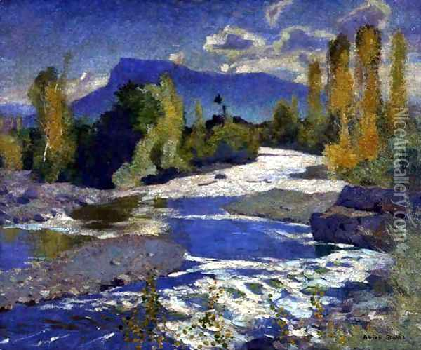 A River in the Dauphine, Afternoon, 1932 Oil Painting - Adrian Scott Stokes