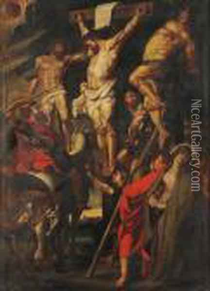 Le Coup De Lance Oil Painting - Peter Paul Rubens