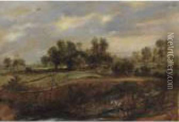 Landscape With A Wagon Oil Painting - Peter Paul Rubens