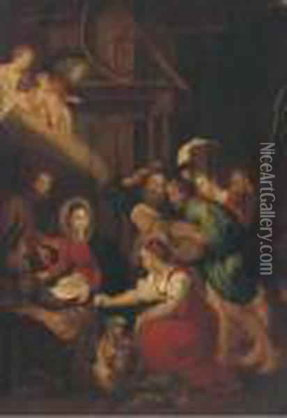 The Adoration Of The Shepherds Oil Painting - Peter Paul Rubens