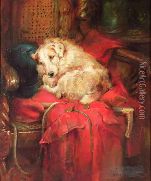 Tired Out Oil Painting - Philip Eustace Stretton