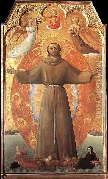 The Ecstasy of St Francis 1437-44 Oil Painting - Stefano Di Giovanni Sassetta
