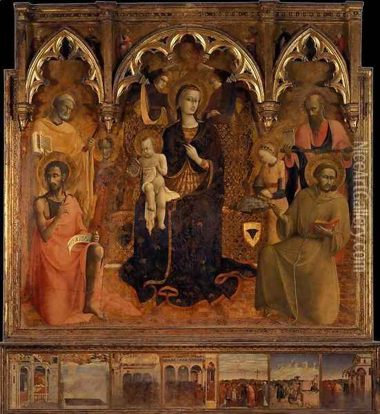 The Virgin and Child with Saints 1430-32 Oil Painting - Stefano Di Giovanni Sassetta