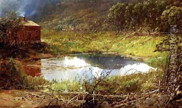 The Pond Oil Painting - William Louis Sonntag