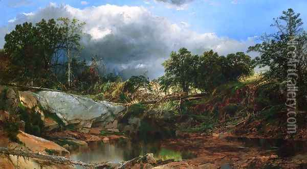 Mill Brook, New Hampshire Oil Painting - William Louis Sonntag