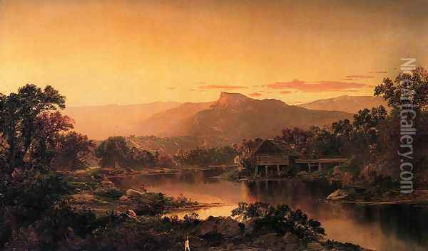 River View Oil Painting - William Louis Sonntag