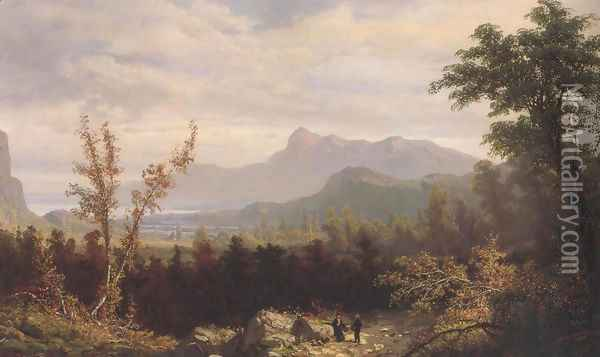 In The White Mountains New Hampshire 1876 Oil Painting - William Louis Sonntag