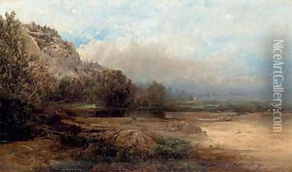 Road Leading to the Glen House, New Hampshire Oil Painting - William Louis Sonntag